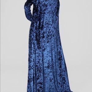 Blue crushed velvet 3 piece